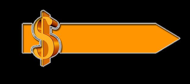 dolar, oranžová šipka