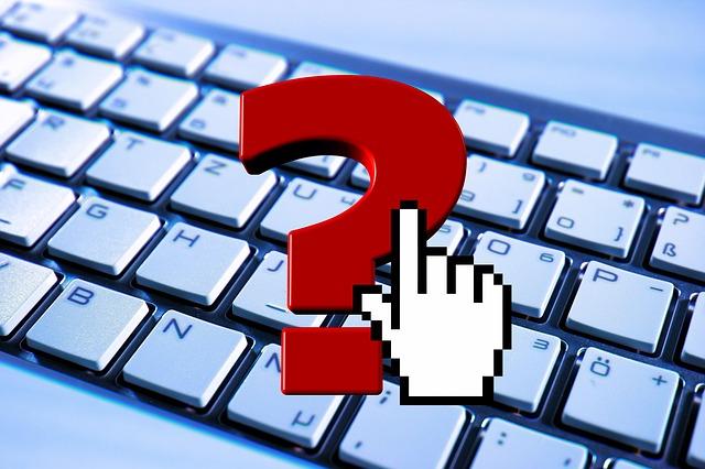 otazník na klávesnici