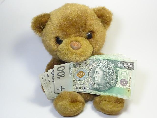 medvěd a peníze