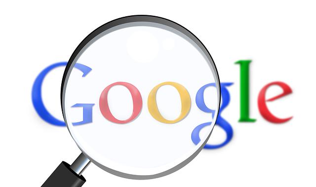 logo google pod lupou